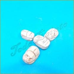 Escarabajos egipcios Blanco M1