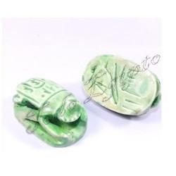 Escarabajos egipcios Verde M2