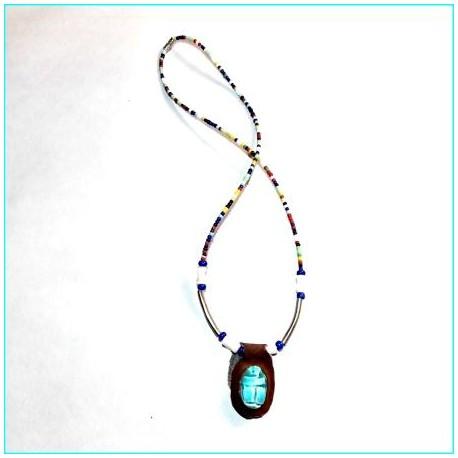 Collar escarabajo egipcio Lux1