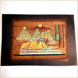 Papiro egipcio envejecido 40cmX35cm Luxor4