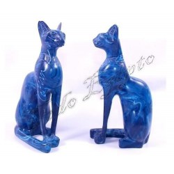 Figuras egipcias Bastet Azul