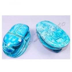 Escarabajos egipcios azul M3