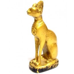 Bastet gato egipcio dorado