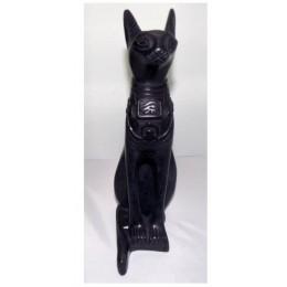 Figura egipcia Bastet gato sagrado 40cm Negro