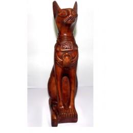 Figura egipcia Bastet gato sagrado 40cm Marrón