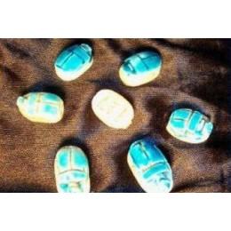 Escarabajo egipcio Azul/Blanco M1