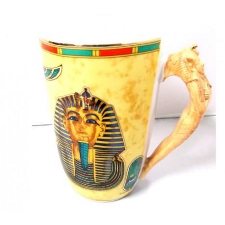 Taza porcelana egipci larga Tutankamón