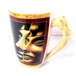 Taza porcelana egipcia larga Dioses egipcios