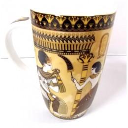 Taza porcelana egipcia larga Culto al Sol