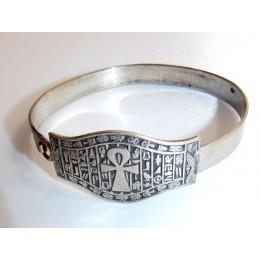 Plata egipica Pulsera llave de la vida