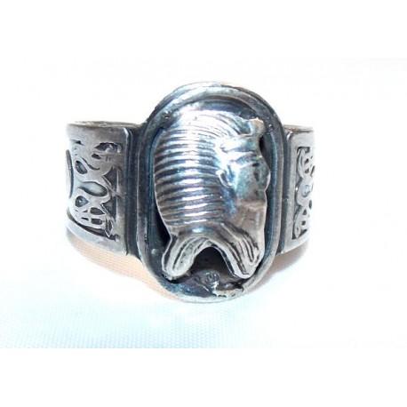 Plata Egipcia anillo Llave vida