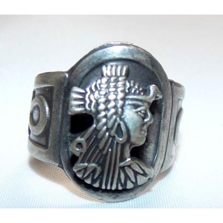 Anillo Ojo horus plata Egipcia