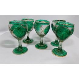 Copas de cristal pintado a mano Delta