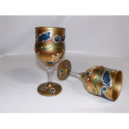 Copa de cristal pintado a mano Cleopatra